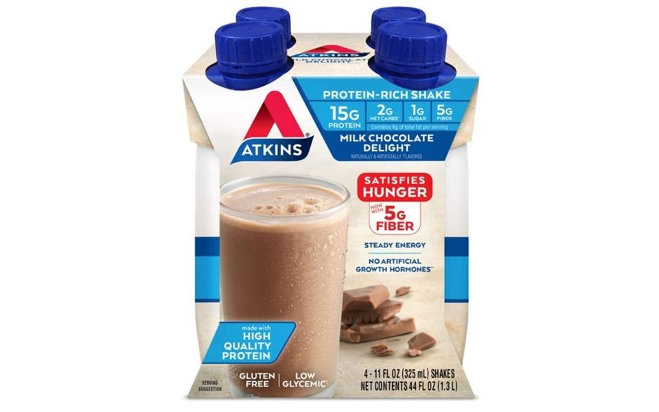 Pachet de 4 sticle de Atkins Protein – Rich Shake.