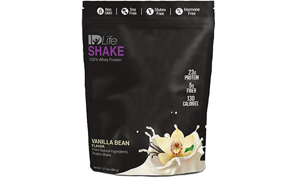 Pungă de IDLife 100% Whey Protein Shake.