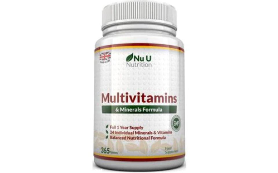 Flacon multivitamine Nu U Nutrition.