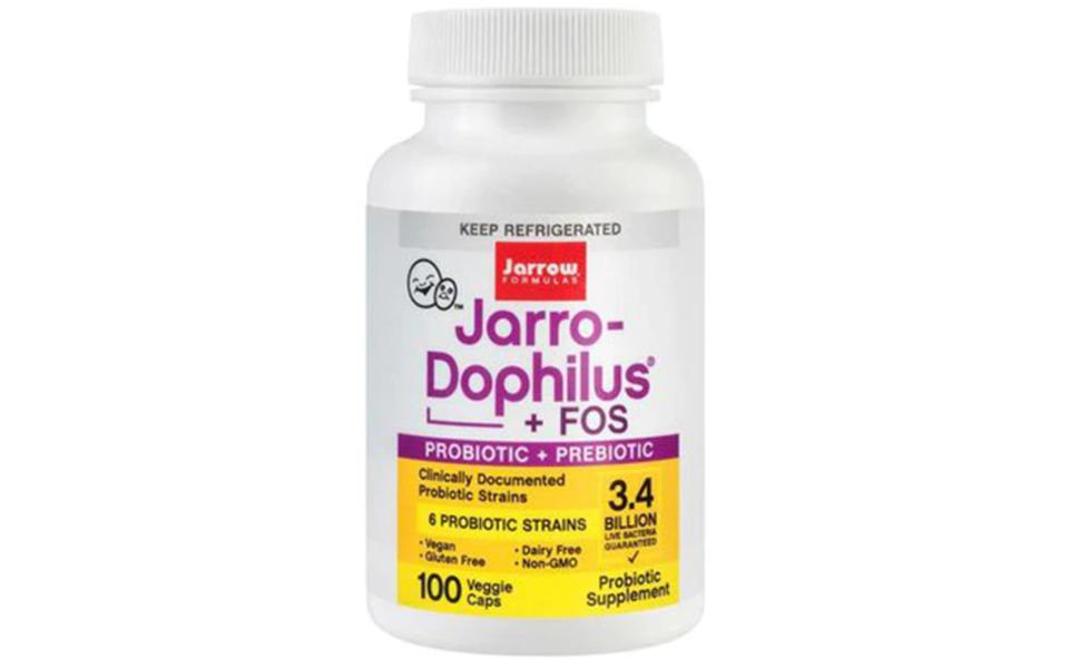 Flacon cu suplimente probiotice Jarro-Dophilus + FOS - Jarrow Formulas.
