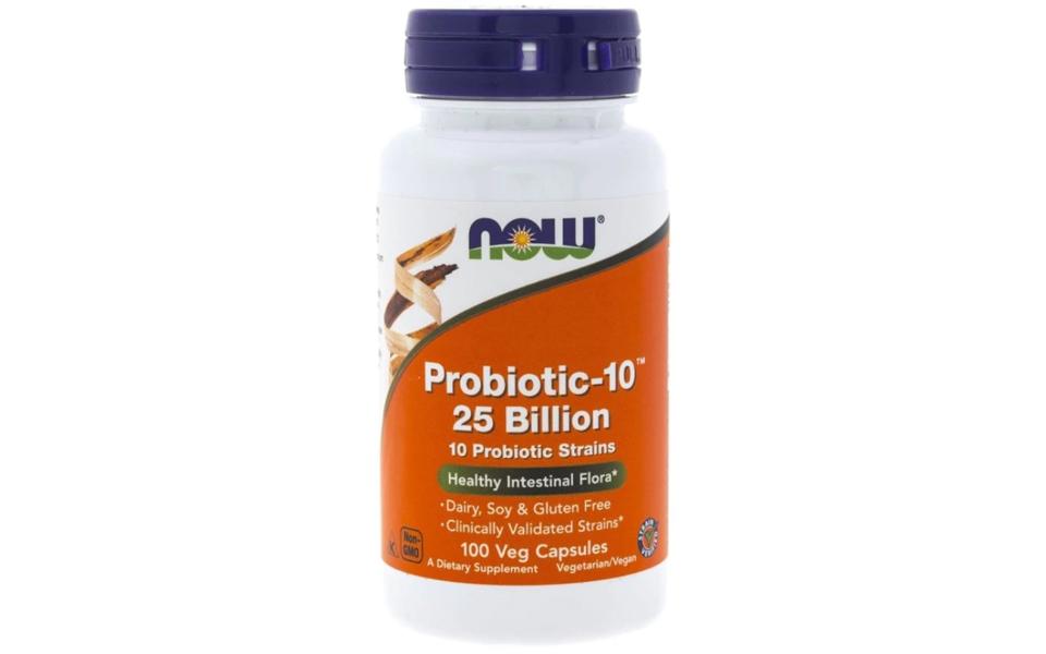 Flacon cu probioticeProbiotic-10 Now Foods.