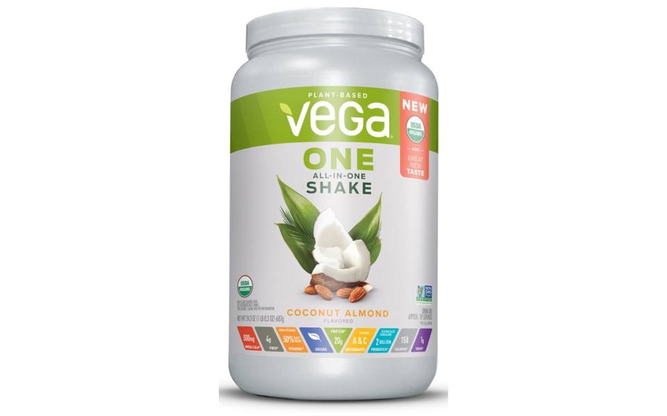 Recipient pudra proteica Vega One All in One Shake Proteic Nutritional.