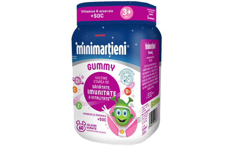 Flacon sumplimente cu soc Minimarțieni - Gummy cu Soc Walmark.
